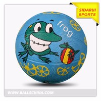 New Style Colorful Rubber Made Strong Basketball