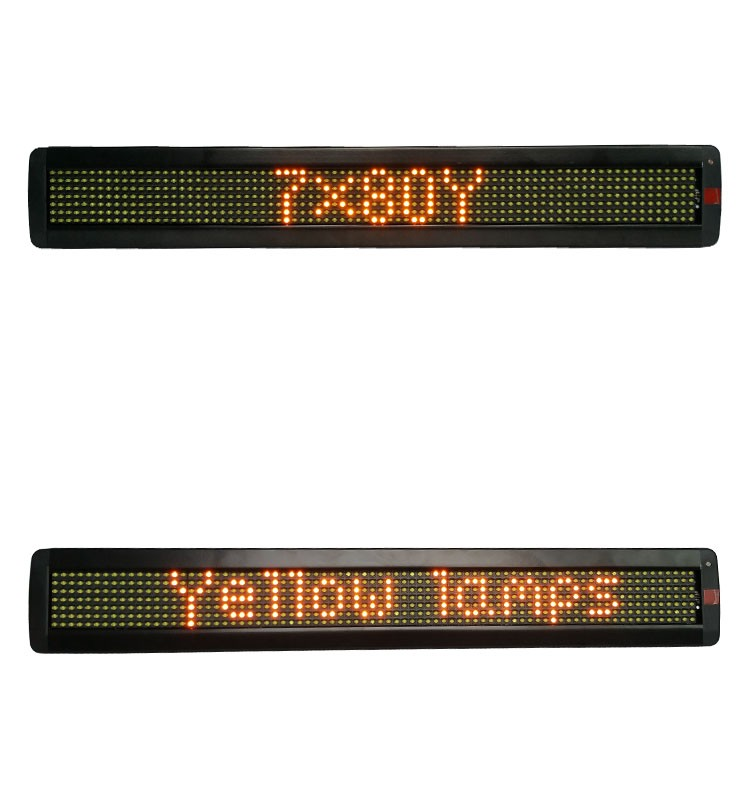 P7.62-7x80W semioutdoor high lightness single line white lamps programmable led sign display messages