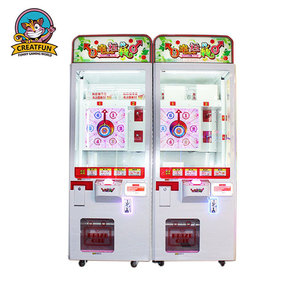 Coin operated roulette lucky wheel arcade claw crane game toy vending machine