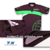 sublimation printed Polo t shirt with 100% polyester