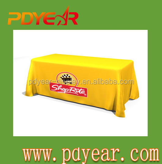 custom modern trade show design table cover or table cloth with logo cheap