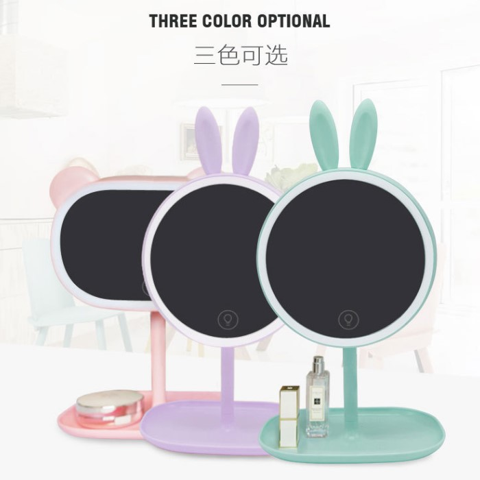 3 Levels Touch Screen Lighted Led Vanity Mirror Makeup Mirror & Table Lamp For Girls' Bedroom