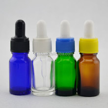 2015 new cosmetic package 10ml cobalt blue glass essential oil bottle