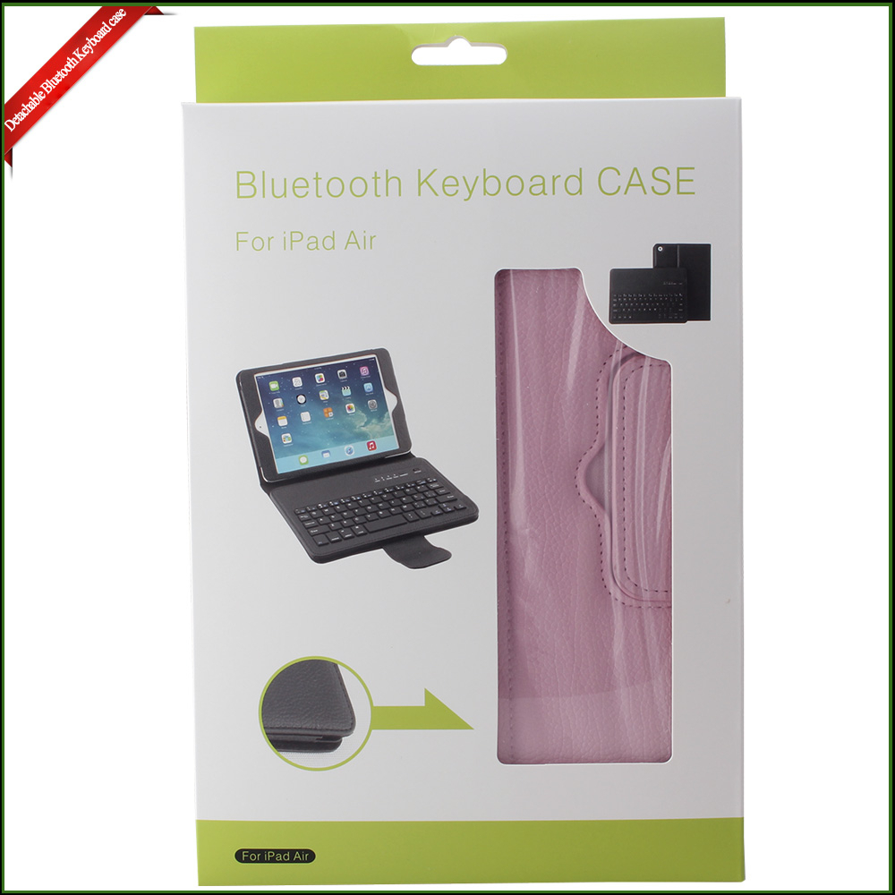 for Apple MFI Certified Light ABS IPad air Leather Keyboard Case With Stand