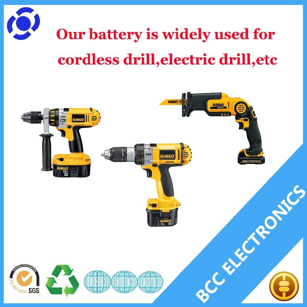 7.2v lithium battery dewalt power tools battery Ni-MH2.0Ah-3.3Ah for cordless drill