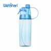 2018 hot sale sports plastic mist spray plastic water bottle with straw
