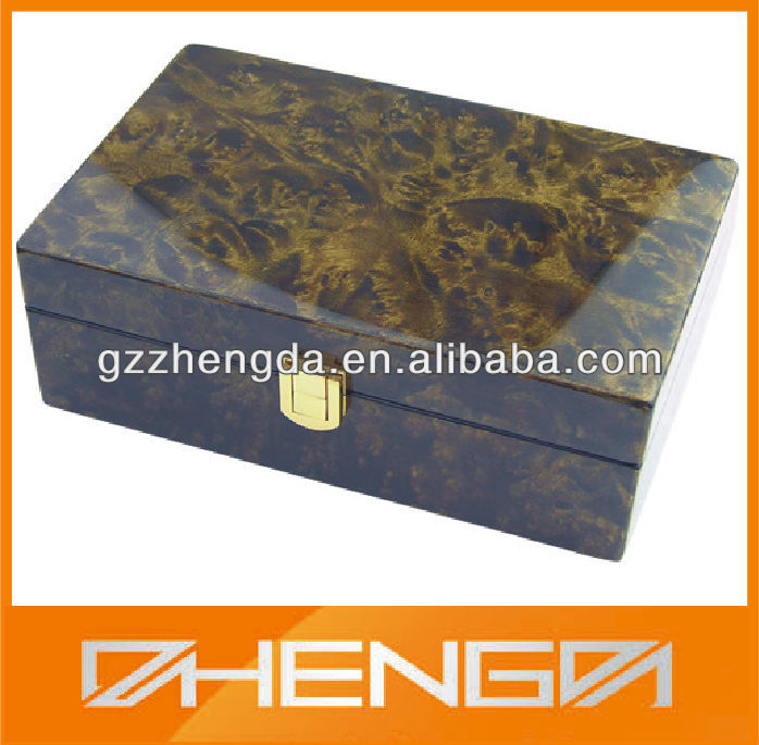 High Quality Customized Made-in-China Fashion High Gloss Finish Wooden Box(ZDW13-Z040)