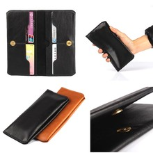 business style Genuine Leather card purse phone case for Samsung Galaxy S7edge