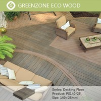 Natural style garden balcony countyard outdoor wpc flooring prefabricated decking