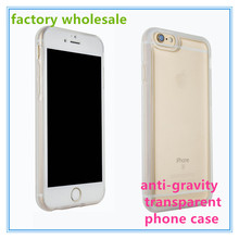 wholesale anti gravity transparent sticky Nanometer adsorption technology mobile phone case for iphone 6S/6Splus protective case