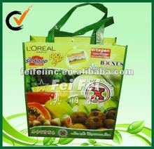 Printed Reusable Fruit and Vegetable PP Nonwoven Lamination Shopping Bag