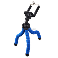 Universal Octopus Leg Portable Adjustable Fleible Tripod Stand with Clip For Mobile Phone Digital Camera Mount Holder