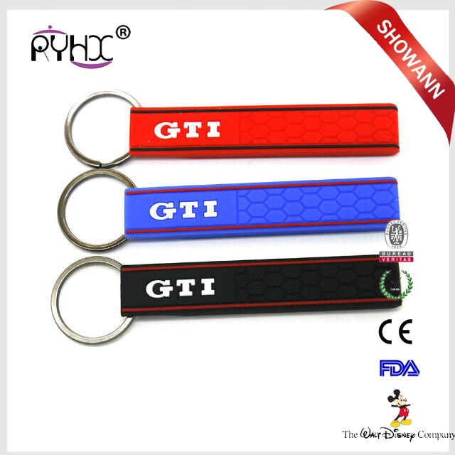 Hot Custom Shape Silicone Keychain 3D Soft Rubber Keychain