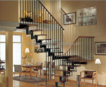 U shaped stair/side stringer staircase