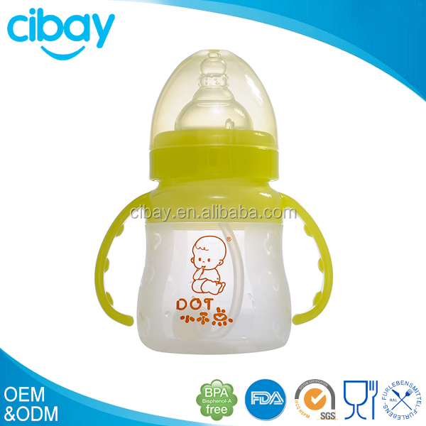 4oz/5oz BPA FREE and silicone infant/baby feeding baby bottle