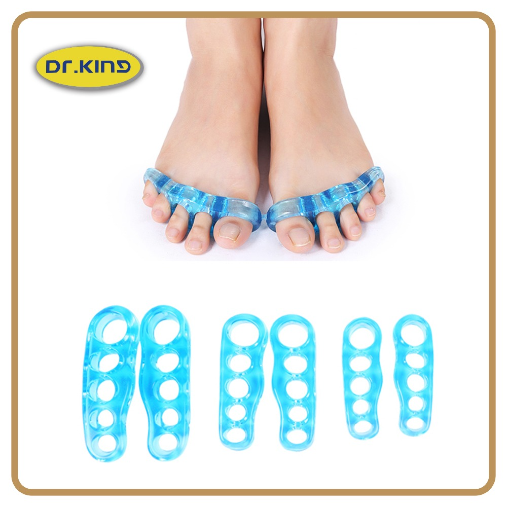 Durable feet care toe spacers gel toe separator