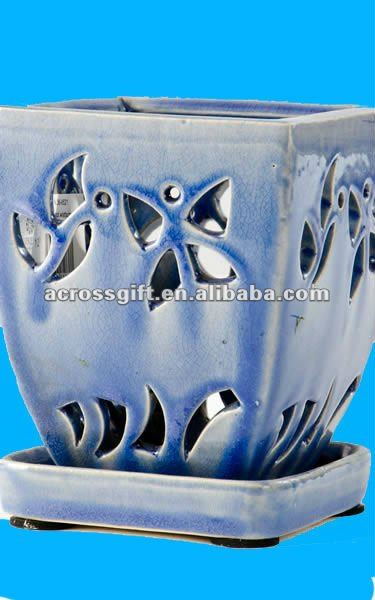 Garden decoration ceramic orchid pot