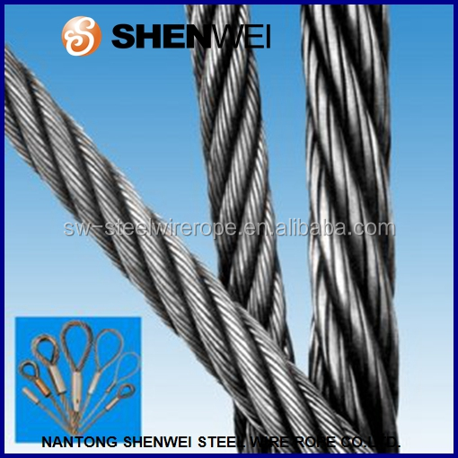 6*7+IWRC electrical wire rope for crane