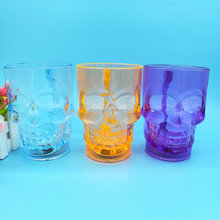 Hot sell Plastic LED skull mug
