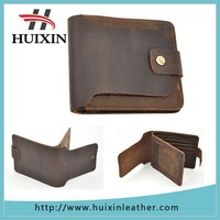 Hot Selling Factory Durable Man Crazy Horse Leather Wallet for men