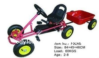 kids toy pedal go kart with a plastic trailer F90AB