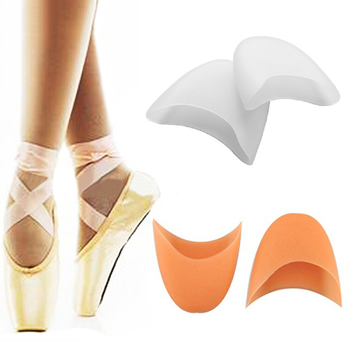 White/skin available silicone gel pad ballet dance shoes toe protective pad
