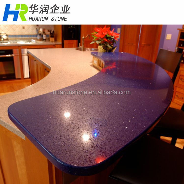 Purple Quartz Stone Kitchen Countertops