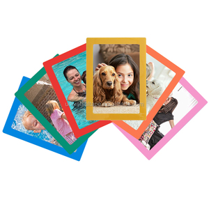 Reusable Self Adhesive Plastic PVC Wall Picture Frame Photo Frame