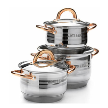 Wholesale stainless steel 9 layers capsule bottom enamelware cookware