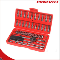 POWERTEC 1 4 Inch 46pc Chrome
