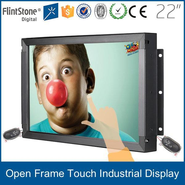 "FlintStone 22""Wide LED Open Frame Monitor/ IR Touch/ 1920x1080/ VA Panel/ RGB/ DVI/ DC12V / 250cd"