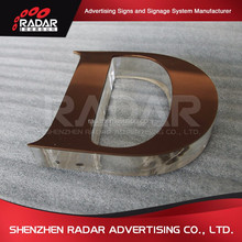 Customized Lighting Acrylic Mini LED Channel Letter Sign / Bending Machine Making Acrylic face Lighting Letters
