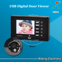 USB digital door viewer with motion detection by entry door camera with recorder