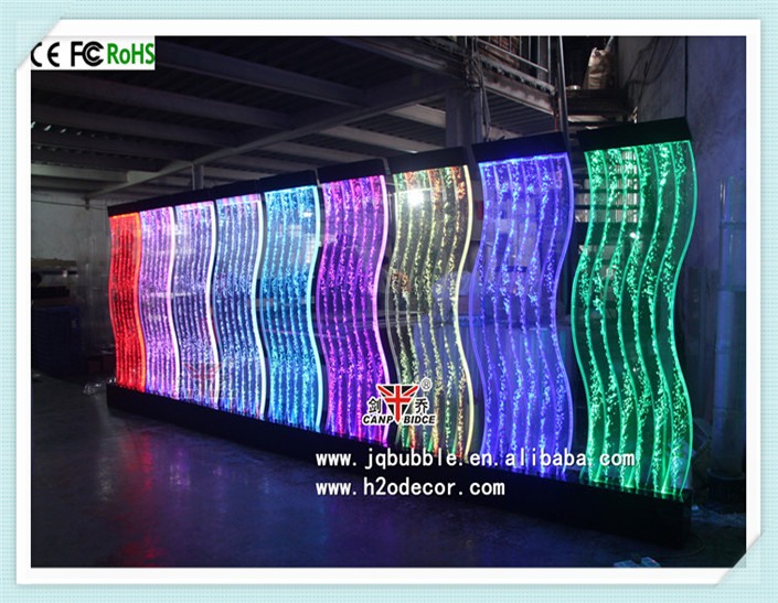 Restaurant indoor <strong>decor</strong> customized led dancing water bubble panel walls