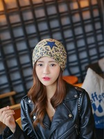 The hat qiu dong day round the female han edition of the female han edition of the headscarf baotou the winter moon hat three us