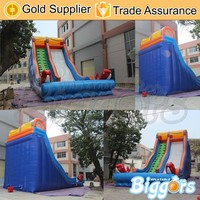 Free Sea Shipping Cheap Garden Jumping Castles Inflatable Water Slide With Air Blowers