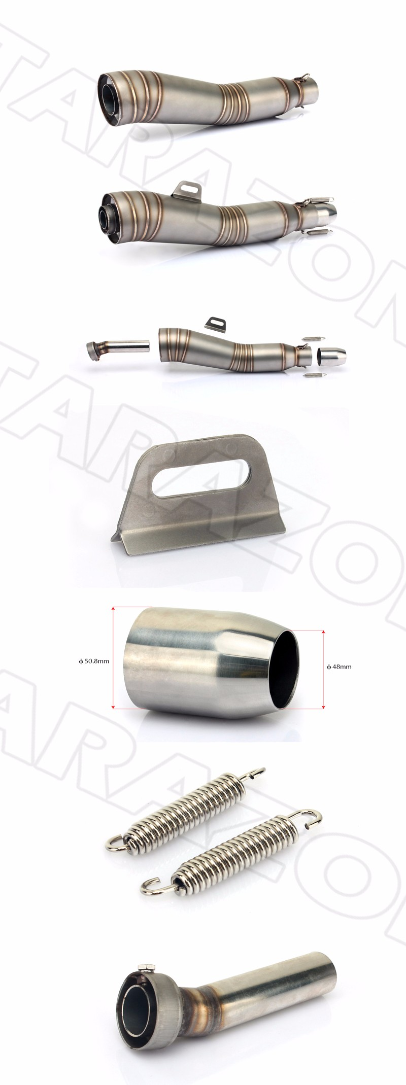 Hand Welding Universal Motorcycle Exhaust Mufflers For Sale