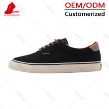 high quality casual style new design rubber canvas shoes
