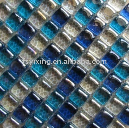 "Hot Sale 1""x1"" Stained Glass Mosaic Tile For Interior Bathroom Spa Villa Wall Deco"