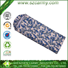 High quality Envelop style military camo 600g duck down sleeping bag