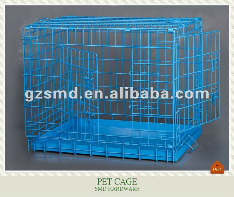 Colorful metal folding pet cage