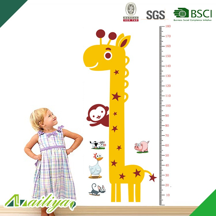 ALY-HS001 Custom China Wholesale Child height chart wall stickers