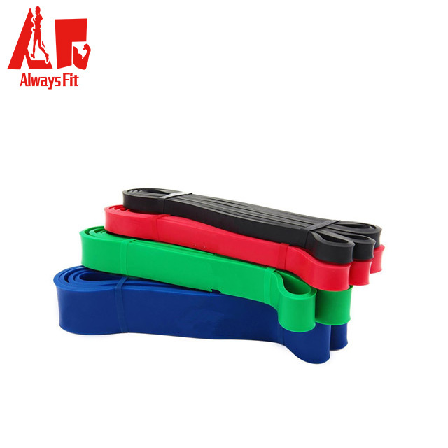 Colorful custom printing latex exercise rubber tranning band resistance band
