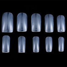 Wholesale Full Covered False nail art Tips ABS Artificial acrylic Nail Tips Regular Square False Nail