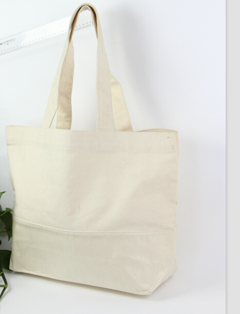 Wholesale Custom Large Cotton Canvas Blank Tote Bag For Promotion