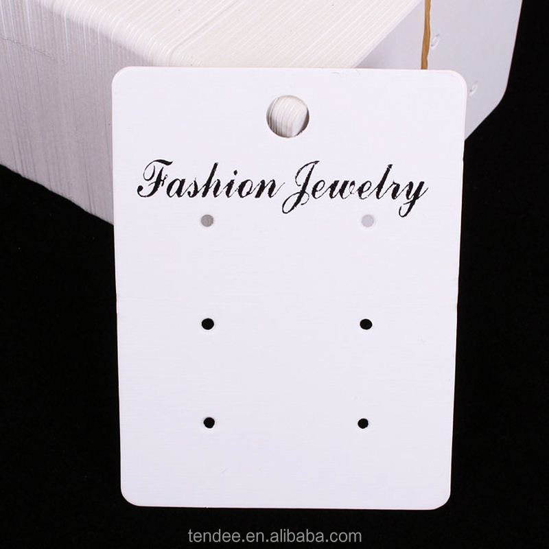 custom necklace earrings set fashion jewelry display card with logo
