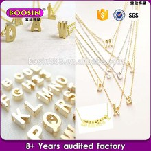 2016 Fashion Gold filled alphabet letter charm Jewelry Zinc alloy initials charms wholesale charms