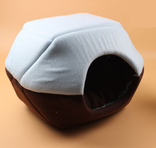 [PHS041-S] Double usages pet sleeping cave,novelty pet beds with top cover,hamburger pet beds with cover