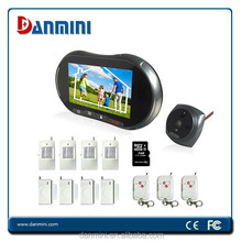 Multi function digital door viewer with GSM alarm motion detection
