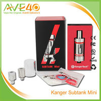 2015 Hot New Kanger Subtank Mini 0.5ohm Sub Ohm Atomizer Subtank Mini Bell Cap